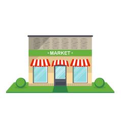 market facade isolated icon vector image