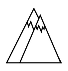 mountains outline icon vector image vector image