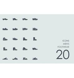 Set of mens footwear icons vector image