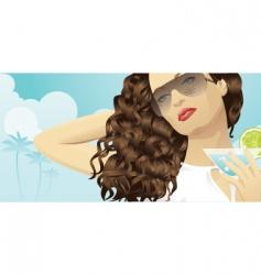 summer beauty vector image vector image