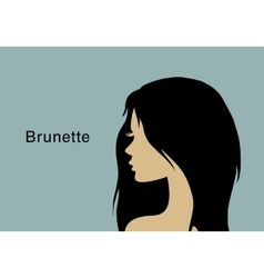 Young brunette woman vector image