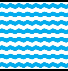 Blue Wave Seamless Pattern Background vector image