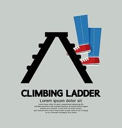 Legs climbing ladder vector