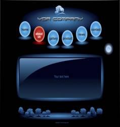 Website blue spheres template vector