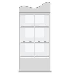 White display rack vector image vector image