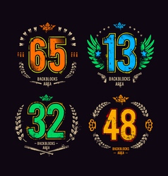 Grunge gangster lucky numbers vector image