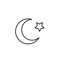 islam star and crescent moon icon vector image vector image