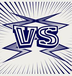 pen sketch versus confrontation background vector image vector image