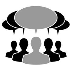people cloud vector image vector image