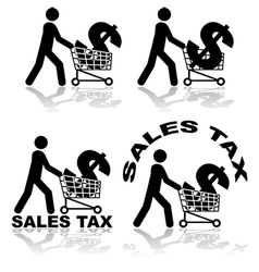 Sales tax vector image