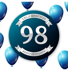 Silver number ninety eight ninety eight years vector