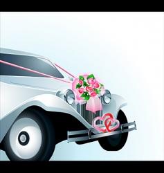 wedding car card vector image vector image