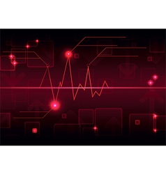 Abstract graph background vector image