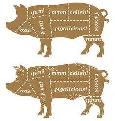 Barbecue Pig Design Element vector image