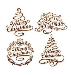 Christmas typography set vector image vector image