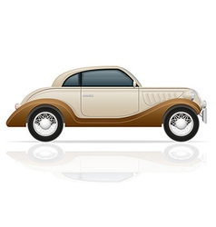 old retro car 01 vector image