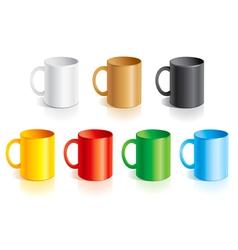 Templates mugs vector image vector image