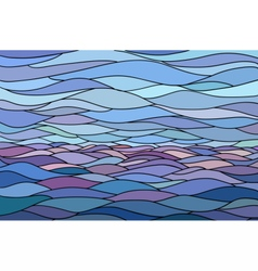 Abstract background with stylized wave and sky vector image