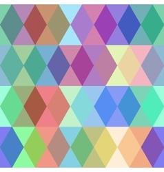 Abstract seamless pattern with colored rhombus vector image
