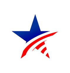 american star creative symbol graphic design vector image