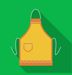 Apron icon in flate style isolated on white vector