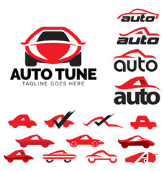 Auto logo and icon set a letter based car theme vector