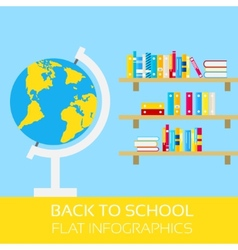 Back to school infographics vector image