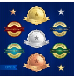Badge satisfaction guaranteed and premium quality vector image