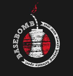 Basebomb design t-shirt template vector