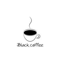 black coffee cup vector image