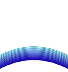 Blue background from curved stripes vector