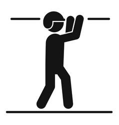 Boy zip line icon simple style vector