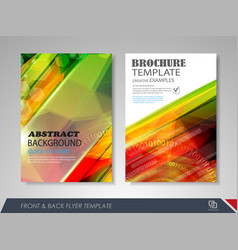 brochures and flyers template design vector image