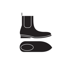chelsea boots black concept icon chelsea vector image