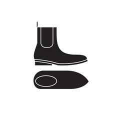 Chelsea boots black concept icon chelsea vector