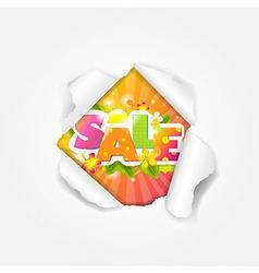 Color Sale Torn vector image