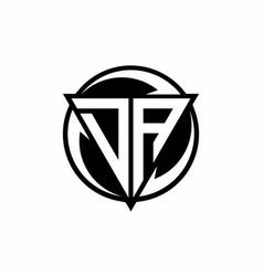 Da logo monogram design template vector