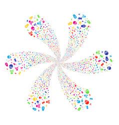 death swirl flower cluster vector image