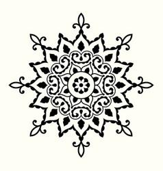 decorative mandala with circular ornament vector image