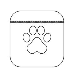 Dog food icon vector