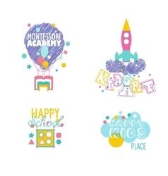 Early educational kindergarten school art vector