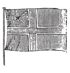 Flag of norway 1881 vintage vector