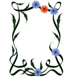 Frame of flowers vector