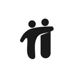 Friend commitment teamwork together black logo vector