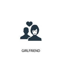 Girlfriend icon simple element vector