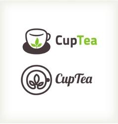 Green tea symbols vector image