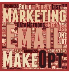 How To Build Your Business The Easy Way text vector image vector image