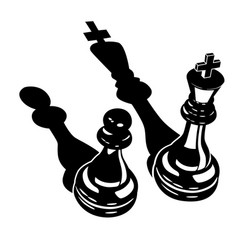 king and a pawn vector image