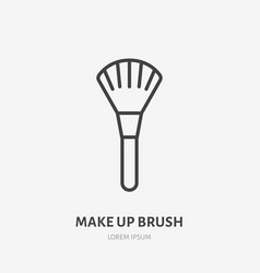 Makeup brush flat line icon beauty care sign vector