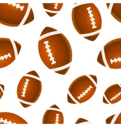 Many bright rugby balls on white seamless pattern vector